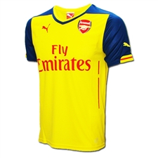 Puma Arsenal Away '14-'15 Replica Soccer Jersey (Empire Yellow/Estate Blue)