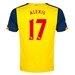 Puma Arsenal 'ALEXIS 17' Away '14-'15 Replica Soccer Jersey (Empire Yellow/Estate Blue)