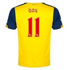Puma Arsenal 'OZIL 11' Away '14-'15 Replica Soccer Jersey (Empire Yellow/Estate Blue)