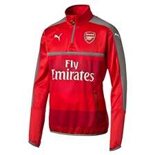 Puma Arsenal 1/4 Zip Training Top (High Risk Red/Steel Gray)