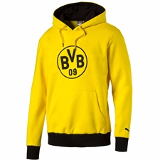 Puma Borussia Dortmund Badge Hoody (Cyber Yellow/Black)