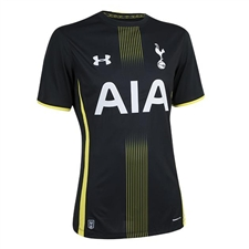 Under Armour Tottenham Away 2014-2015 Replica Soccer Jersey (Black/Yellow)