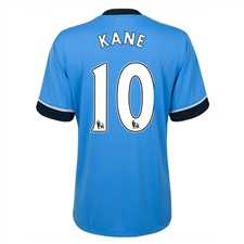 Under Armour Tottenham 'KANE 10' Away 2015-2016 Replica Soccer Jersey (Blue)