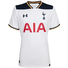 Under Armour Tottenham Home '16-'17 Replica Soccer Jersey (White)