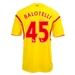 Warrior Liverpool 'BALOTELLI 45' Away '14-'15 Replica Soccer Jersey (Cyber Yellow/High Risk Red)