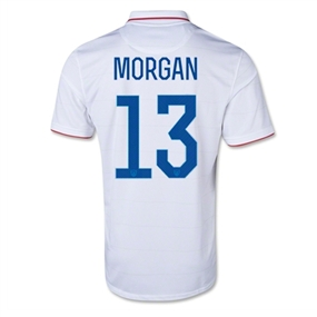 Nike Women's USA 2014 'MORGAN 13' Home Replica Soccer Jersey (Football White/Game Royal)