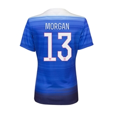 Nike Women's USA 2015 'MORGAN 13' Away Replica Soccer Jersey (Game Royal/Blue)