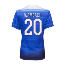 Nike Women's USA 2015 'WAMBACH 20' Away Replica Soccer Jersey (Game Royal/Blue)