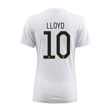 Nike Women's USA 2015 'LLOYD 10' Home Stadium Soccer Jersey (Football White/Black)