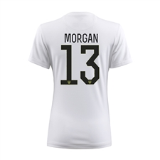 Nike Women's USA 2015 'MORGAN 13' Home Stadium Soccer Jersey (Football White/Black)