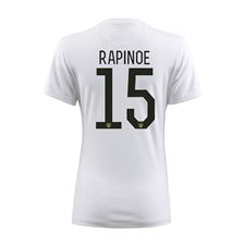 Nike Women's USA 2015 'RAPINOE 15' Home Stadium Soccer Jersey (Football White/Black)