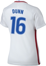 Nike Women's USA 2016 OLYMPIC RIO 'DUNN 16' Soccer Jersey (White/Royal/Red)
