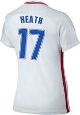 Nike Women's USA 2016 OLYMPIC RIO 'HEATH 17' Soccer Jersey (White/Royal/Red)