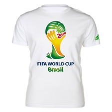 Adidas Youth FIFA World Cup Brasil 2014 Shirt (White)