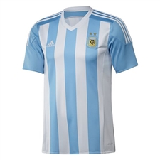 Adidas Youth Argentina Home 2015 Replica Soccer Jersey (White/Zenith)