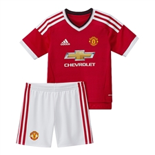 Adidas Manchester United Home Mini '15-'16 Soccer Kit (Real Red/White)