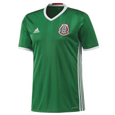 Adidas Mexico Home Youth 2016 Replica Soccer Jersey (Green/Red/White)