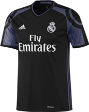 Adidas Real Madrid Third '16-'17 Youth Soccer Jersey (Black/Purple)