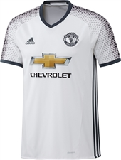 Adidas Youth Manchester United Third '16-'17 Soccer Jersey (White/Black)