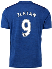 "Adidas Youth Manchester United ""ZLATAN 9"" Away '16-'17 Soccer Jersey (Royal Blue/Red)"