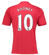 "Adidas Youth Manchester United ""ROONEY 10"" Home '16-'17 Soccer Jersey"