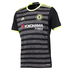 Adidas Youth Chelsea Away '16-'17 Soccer Jersey (Black/Grey/Solar Yellow)