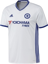 Adidas Youth Chelsea Third '16-'17 Soccer Jersey (White/Chelsea Blue)