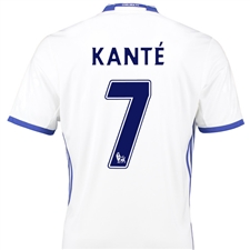 Adidas Youth Chelsea 'KANTE 7' Third '16-'17 Replica Soccer Jersey (White/Chelsea Blue)