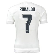 Adidas Real Madrid UCL 'RONALDO 7' Home Youth '15-'16 Replica Soccer Jersey (White/Clear Grey)
