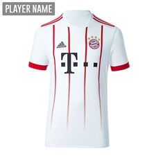 Adidas Youth Bayern Munich UCL '17-'18 Soccer Jersey (White/Red)