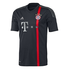 Adidas Bayern Munich Youth Third '14-'15 Replica Soccer Jersey (Black/Red/Iron Grey/Dark Grey)