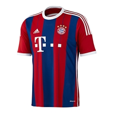 Adidas Bayern Munich Youth Home '14-'15 Replica Soccer Jersey (FCB True Red/Collegiate Royal/White)