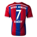 Adidas Bayern Munich 'RIBERY 7' Home Youth '14-'15 Replica Soccer Jersey (FCB True Red/Collegiate Royal/White)