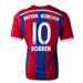 Adidas Bayern Munich 'ROBBEN 10' Home Youth '14-'15 Replica Soccer Jersey (FCB True Red/Collegiate Royal/White)