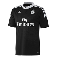 Adidas Real Madrid Third Youth '14-'15 Replica Soccer Jersey  (Black/White)