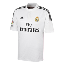 Adidas Real Madrid Home Youth '14-'15 Replica Soccer Jersey  (White/Black/Blast Pink)