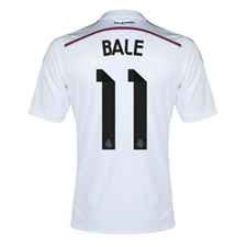 Adidas Real Madrid 'BALE 11' Home Youth '14-'15 Replica Soccer Jersey  (White/Black/Blast Pink)