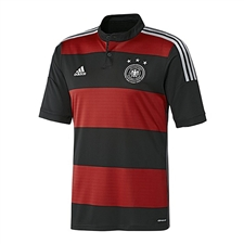 Adidas Germany Away Youth 2014 Replica Soccer Jersey (Black/Victory Red/Metallic Silver)