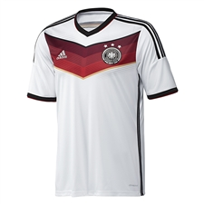 Adidas Germany Home Youth 2014 Replica Soccer Jersey (White/Black/Victory Red/Metallic Silver)