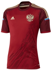 Adidas Russia 2014 Home Youth Replica Soccer Jersey (Cardinal/Light Maroon/Light Football Gold)