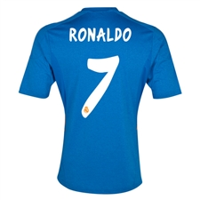 Adidas Real Madrid Youth 'RONALDO 7' Away '13-'14 Replica Soccer Jersey (Air Force Blue/White/Light Orange)