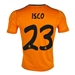 Adidas Real Madrid Youth 'ISCO 23' Third '13-'14 Replica Soccer Jersey (Light Orange/Dark Shale)