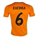 Adidas Real Madrid Youth 'KHEDIRA 6' Third '13-'14 Replica Soccer Jersey (Light Orange/Dark Shale)