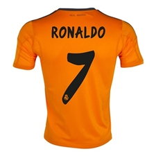 Adidas Real Madrid Youth 'RONALDO 7' Third '13-'14 Replica Soccer Jersey (Light Orange/Dark Shale)