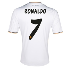 Adidas Real Madrid Youth 'RONALDO 7' Home '13-'14 Replica Soccer Jersey (White/Lead/Orange)