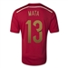 Adidas Spain Youth 'MATA 13' Home 2014 Replica Soccer Jersey (Victory Red/Light Football Gold/Toro)