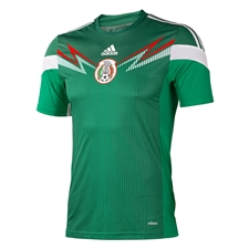 Adidas Mexico Home Youth '13-'14 Replica Soccer Jersey (Green/White)