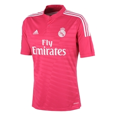 Adidas Real Madrid Away Youth '14-'15 Replica Soccer Jersey (Blast Pink/White)