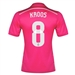 Adidas Real Madrid 'KROOS 8' Away Youth '14-'15 Replica Soccer Jersey (Blast Pink/White)