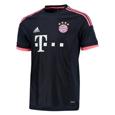 Adidas Bayern Munich Third Youth '15-'16 Soccer Jersey (Night Navy/Flash Red)